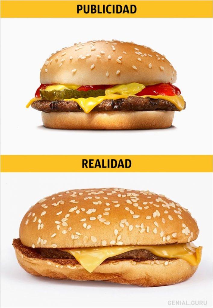 comparativa de una buena imagen y otra mala en marketing