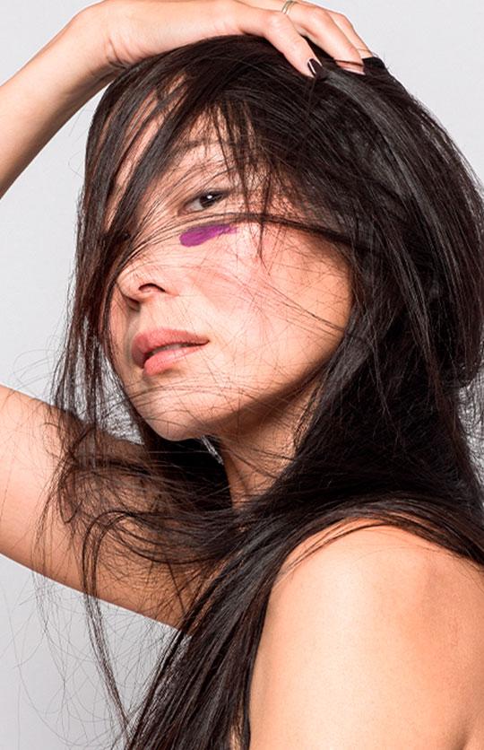 foto retrato de modelo china en estudio