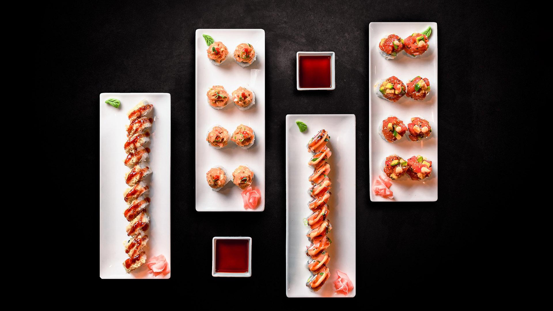 fotografía profesional de un plato de sushi
